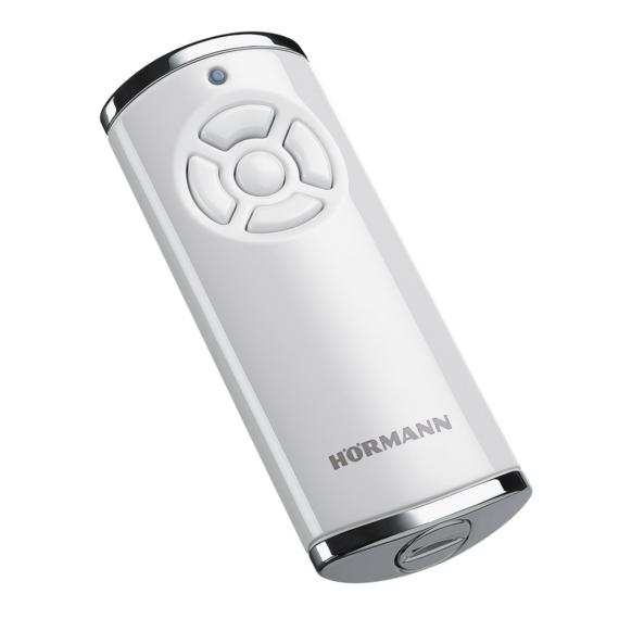 Hörmann HS 5 BS 5-gombos kéziadó, magasfényű műanyag felület krómozott horganyöntvény sapkákkal (fehér)