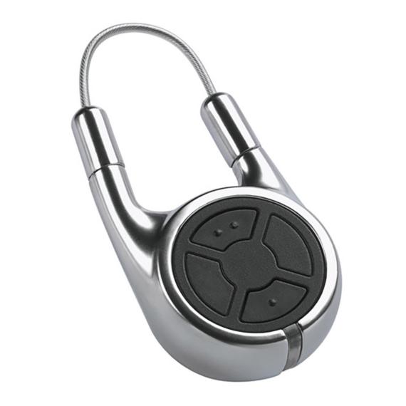 Hörmann HSD 2-C BS 2-gombos kéziadó (króm) fémházban, kulcskarika díszeként