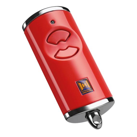 Hörmann HSE 2 BS 2-gombos kéziadó, magasfényű műanyag felület krómozott horganyöntvény sapkákkal (piros)