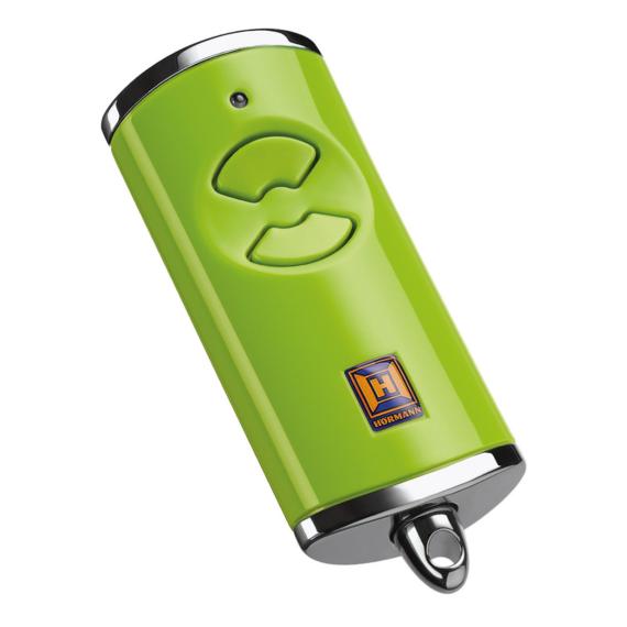 Hörmann HSE 2 BS 2-gombos kéziadó, magasfényű műanyag felület krómozott horganyöntvény sapkákkal (zöld)